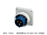 品牌:曼奈柯斯 Mennekes 名称:工业插头32A/3P/230V/IP67防水 3芯插头 型号:TYP831