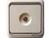 西蒙防雷一位串接式电视插座