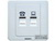 西门子信息插座+电话插座5TG0125-1CC1