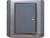 施耐德奇胜10A 带LED指示横式大按板单联单控开关(灰+银)