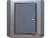 施耐德奇胜10A 带LED指示横式大按板单联双控开关(灰+银)