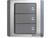 施耐德奇胜10A 带LED指示横式大按板三联双控开关(灰+银)