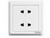 ABB二位二极扁圆两用插座 10A