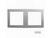 ABB双连直边框AL5201
